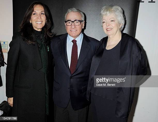 Olivia Harrison filmmaker Martin Scorsese and film editor Thelma Schoonmaker attend a special screening of 'The Life and Death of Colonel Blimp'...