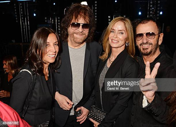 Olivia Harrison Jeff Lynne Barbara Bach and Ringo Starr attend as John Varvatos launch their first European store in London on September 3 2014 in...