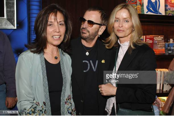 Olivia Harrison Ringo Starr and Barbara Bach during Olivia Harrison Signs Her Book 'Concert for George' March 15 2005 at Taschen in Beverly Hills...