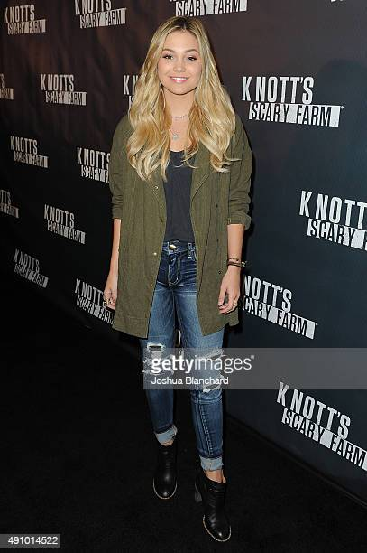 Olivia Holt arrives at Knott's Scary Farm on October 1 2015 in Buena Park California