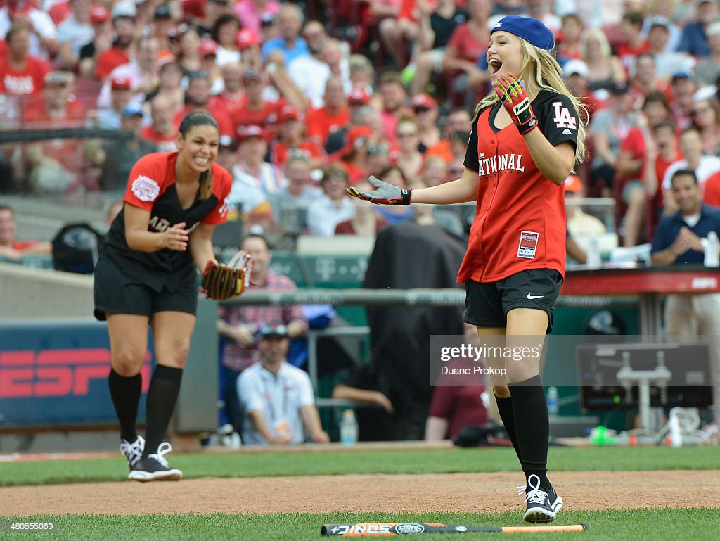 Olivia Holt at the 2015 MLB All-Star Legends And Celebrity Softball Game at Great American Ball Park on July 12, 2015 in Cincinnati, Ohio.