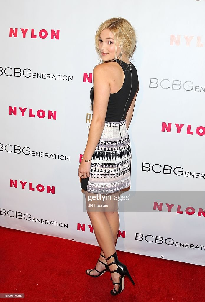 <a gi-track='captionPersonalityLinkClicked' href=/galleries/search?phrase=Olivia+Holt&family=editorial&specificpeople=7563645 ng-click='$event.stopPropagation()'>Olivia Holt</a> attends the Nylon Magazine May Young Hollywood Issue Party on May 8, 2014 in Hollywood, California.
