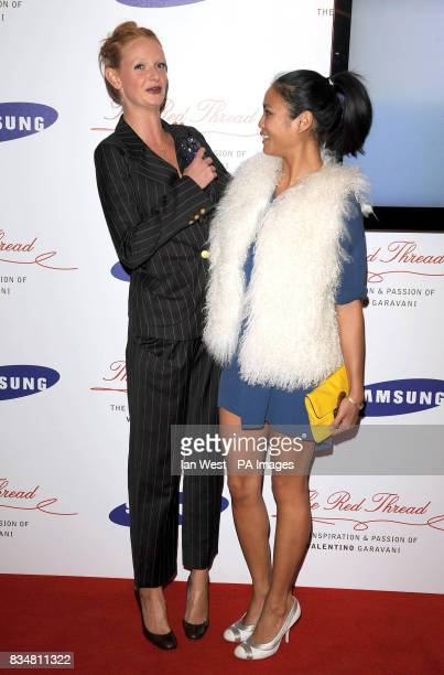 Olivia Inge and friend arrive at the Samsung Imagination Series Event The Red Thread The Inspiration and Passion of Valentino Garavani Premiere at...