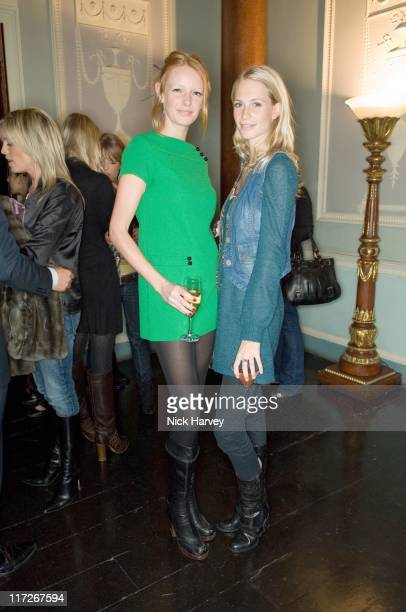 Olivia Inge and Poppy Delevingne during Westfield London Celebrates BFC Fashion Forward Party Inside at Home House in London Great Britain