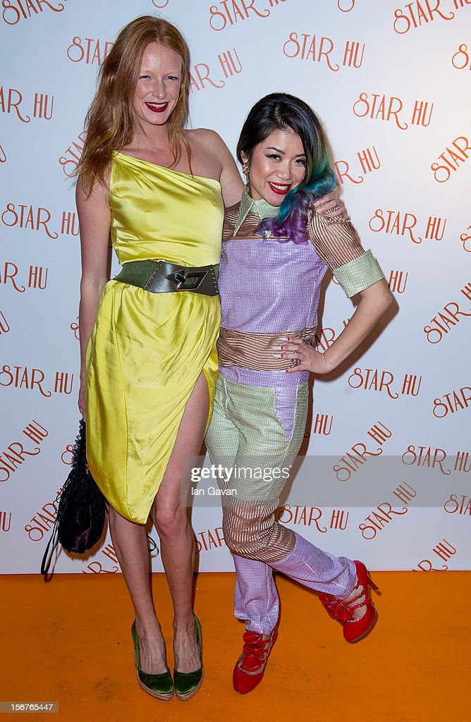 <a gi-track='captionPersonalityLinkClicked' href=/galleries/search?phrase=Olivia+Inge&family=editorial&specificpeople=566778 ng-click='$event.stopPropagation()'>Olivia Inge</a> and Star Hu (R) attend the Star Hu store launch party on November 20, 2012 in London, United Kingdom.