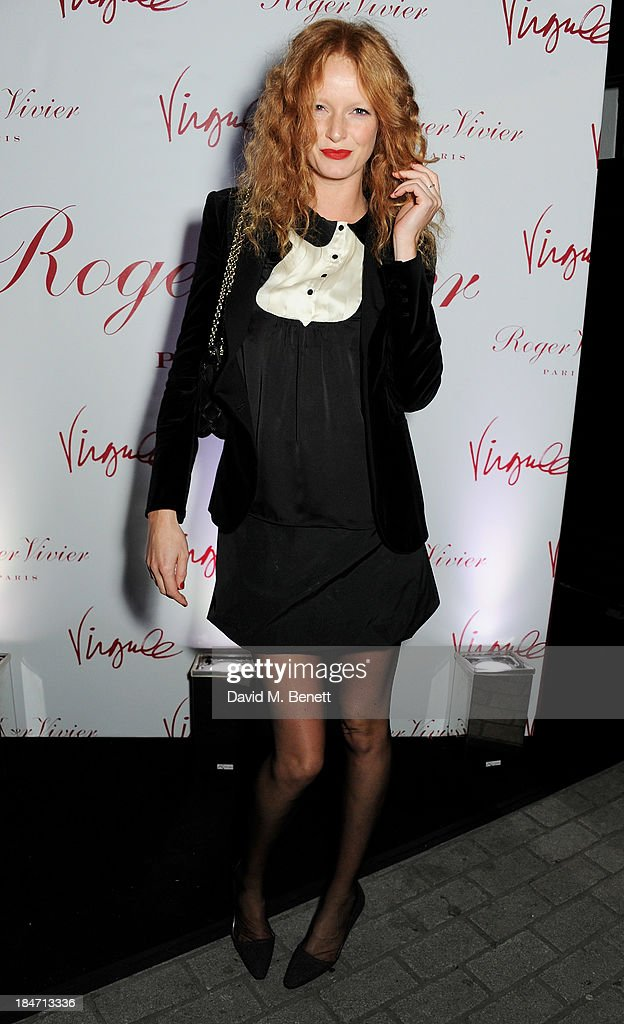 <a gi-track='captionPersonalityLinkClicked' href=/galleries/search?phrase=Olivia+Inge&family=editorial&specificpeople=566778 ng-click='$event.stopPropagation()'>Olivia Inge</a> attends the Roger Vivier Virgule London launch party hosted by Atlanta de Cadenet, Ines de la Fressange and Bruno Frisoni, Creative Director of Roger Vivier, at Le Baron on October 15, 2013 in London, England.