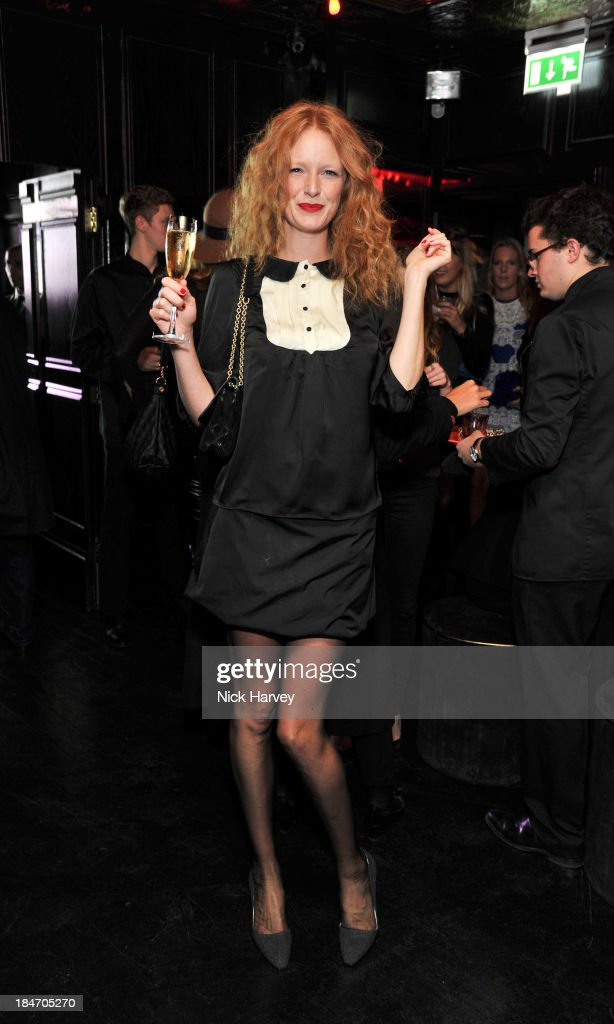 <a gi-track='captionPersonalityLinkClicked' href=/galleries/search?phrase=Olivia+Inge&family=editorial&specificpeople=566778 ng-click='$event.stopPropagation()'>Olivia Inge</a> attends the Roger Vivier Virgule party at Le Baron on October 15, 2013 in London, England.