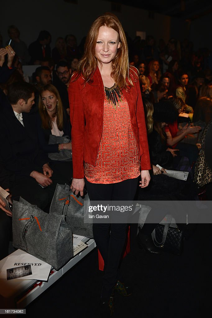 Olivia Inge attends the Zoe Jordan show during London Fashion Week Fall/Winter 2013/14 at Somerset House on February 15, 2013 in London, England.