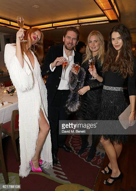 Olivia Inge Rupert Sanderson Marissa Montgomery and Sarah Ann Macklin attend the launch of The Rupert Sanderson Champagne Slipper For 34 Mayfair at...