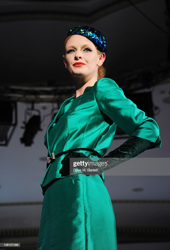 Olivia Inge walks down the catwalk at Fashion For The Brave at The Dorchester Hotel on October 26, 2010 in London, England.