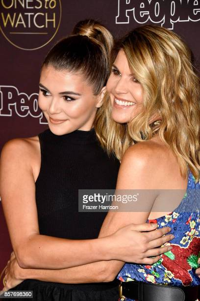 Olivia Jade and Lori Loughlin attend People's 'Ones To Watch' at NeueHouse Hollywood on October 4 2017 in Los Angeles California
