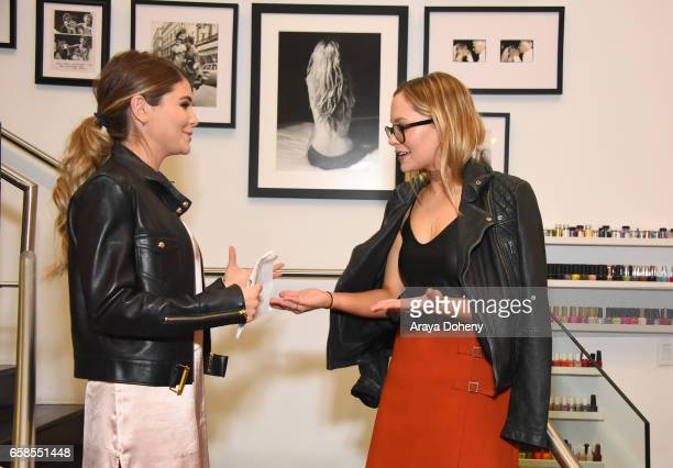 Olivia Jade and Natasha Bure attend the Natasha Bure 'Let's Be Real' Los Angeles book launch party at Eden By Eden Sassoon on March 24 2017 in Los...