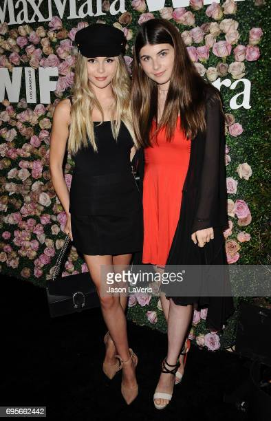 Olivia Jade Giannulli and Bella Giannulli attend Max Mara and Vanity Fair's celebration of Women In Film's Face of the Future Award recipient Zoey...