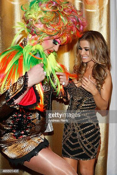 Olivia Jones and Carmen Electra attend the Lambertz Monday Night at Alter Wartesaal on January 27 2014 in Cologne Germany
