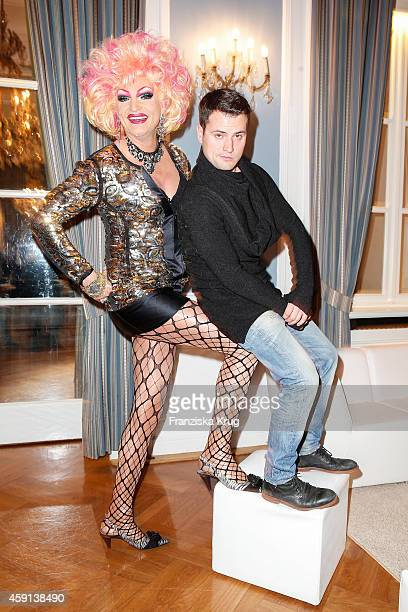 Olivia Jones and Rocco Stark attend the Deichmann Shoe Step of the Year 2014 on November 17 2014 in Hamburg Germany
