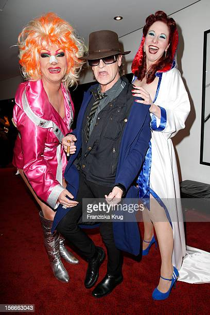 Olivia Jones Udo Lindenberg and Eve Champagne attend the ROCKY Musical Gala Premiere at TUI Operettenhaus on November 18 2012 in Hamburg Germany