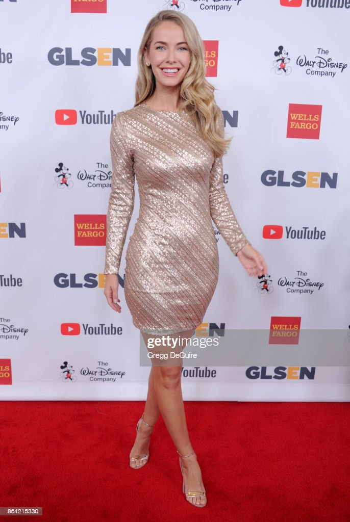 Olivia Jordan arrives at the 2017 GLSEN Respect Awards at the Beverly Wilshire Four Seasons Hotel on October 20, 2017 in Beverly Hills, California.