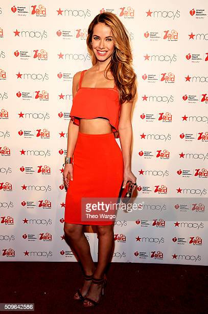 Olivia Jordan attends The American Heart Association's Go Red For Women Red Dress Collection 2016 Presented By Macy's at The Arc Skylight at Moynihan...