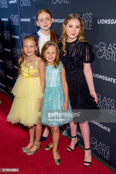 Olivia Kate Rice Sadie Sink Chandler Head and Ella Anderson attend 'The Glass Castle' New York screening at SVA Theatre on August 9 2017 in New York...
