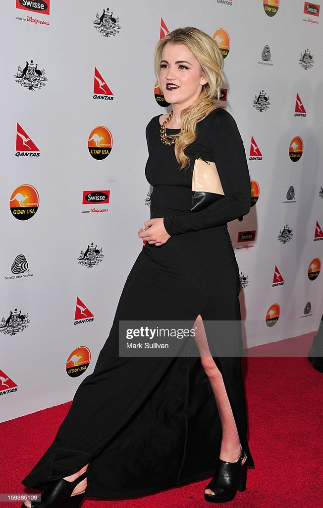 Olivia Ledger arrives for the G'Day USA Black Tie Gala held at at the JW Marriot at LA Live on January 12, 2013 in Los Angeles, California.