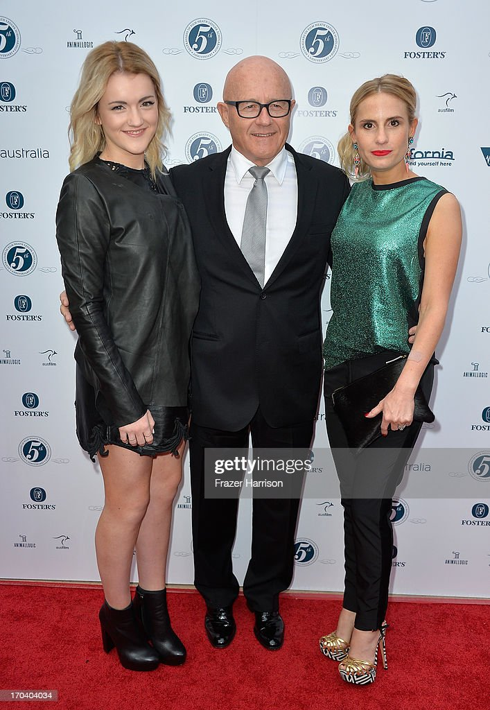 Olivia Ledger, Kim Ledger and Kate Ledger attend the Australians In Film and Heath Ledger Scholarship Host 5th Anniversary Benefit Dinner on June 12, 2013 in Los Angeles, California.