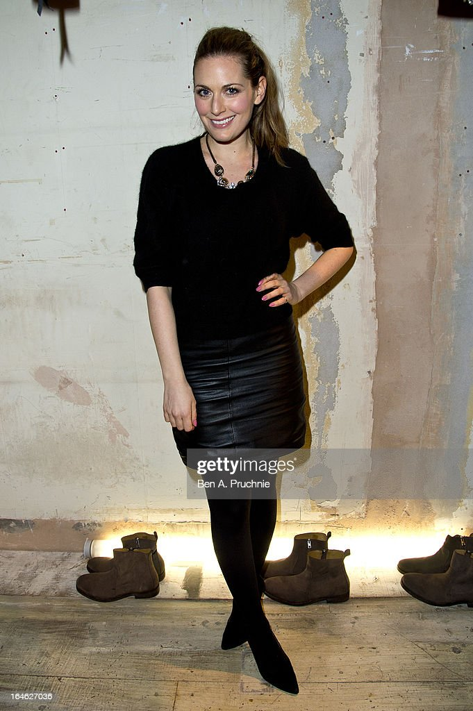 Olivia Lee attends AllSaints Biker Project - Series One at All Saints on March 25, 2013 in London, England.