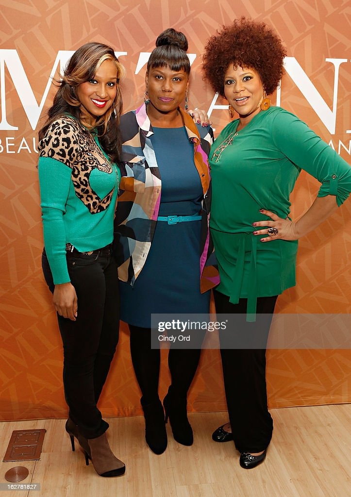 Olivia Longott, Melka Davis and Kim Coles attend 'The Spoken Word' Hosted By Kim Coles at L'Oreal Soho Academy on February 26, 2013 in New York City.