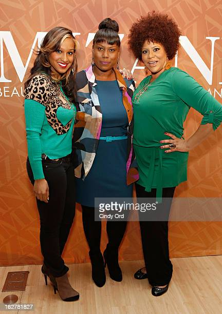 Olivia Longott Melka Davis and Kim Coles attend 'The Spoken Word' Hosted By Kim Coles at L'Oreal Soho Academy on February 26 2013 in New York City