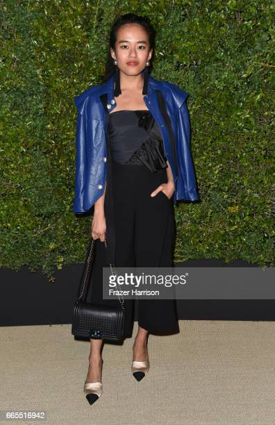 Olivia Lopez attends the celebration of Chanel's Gabrielle Bag hosted by Caroline De Maigret and Pharrell Williams at Giorgio Baldi on April 6 2017...