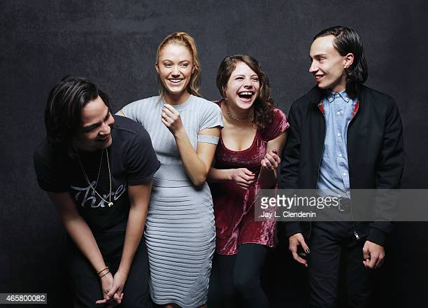 Olivia Luccardi Maika Monroe Daniel Zovatto and Keir Gilchrist from 'It Follows' pose for a portrait for the Los Angeles Times at the 2015 Sundance...