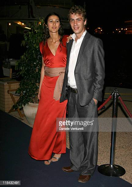 Olivia Magnani and Giovanni Cassinelli during 2007 Cannes Film Festival Cocktail Party Hosted by Alberta Ferretti in Cannes France