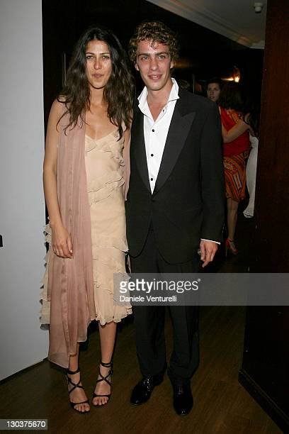 Olivia Magnani and Giovanni Cassinelli during 2007 Cannes Film Festival 'Go Go Tales' Premiere After Party at Hilton in Cannes France