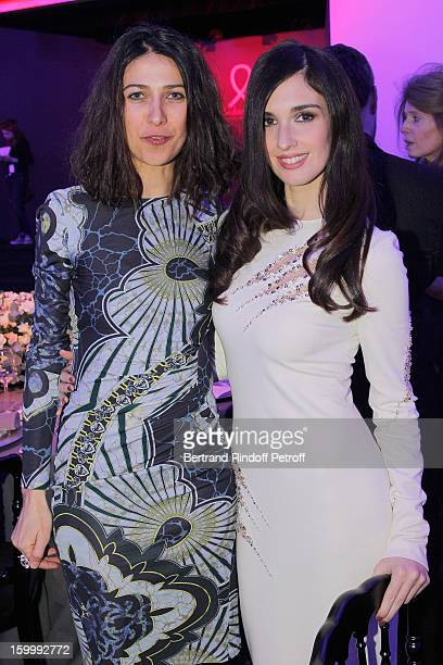 Olivia Magnani and Paz Vega attend the Sidaction Gala Dinner 2013 at Pavillon d'Armenonville on January 24 2013 in Paris France