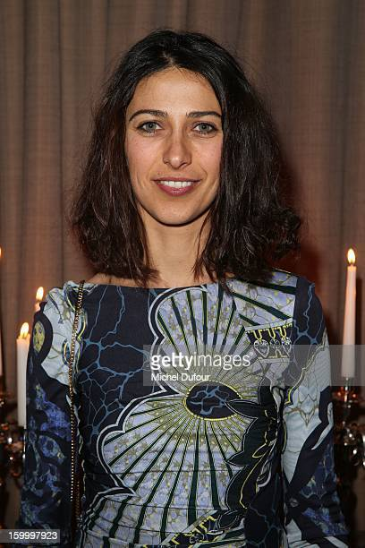 Olivia Magnani attends the Sidaction Gala Dinner 2013 at Pavillon d'Armenonville on January 24 2013 in Paris France