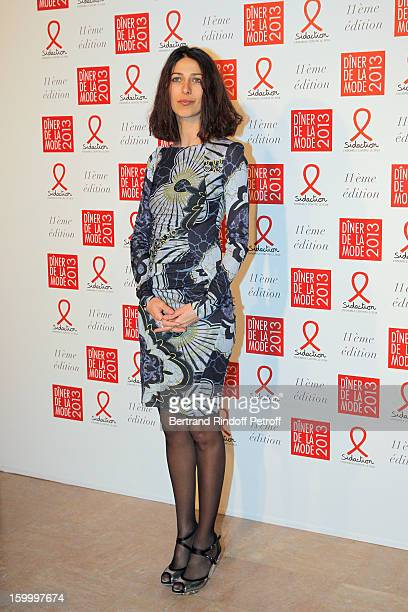 Olivia Magnani poses as she arrives to attend the Sidaction Gala Dinner 2013 at Pavillon d'Armenonville on January 24 2013 in Paris France