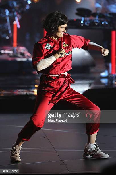 Olivia Merilahti from The Do performs during the 30th 'Victoires de la Musique' French Music Awards Ceremony at le Zenith on February 13 2015 in...