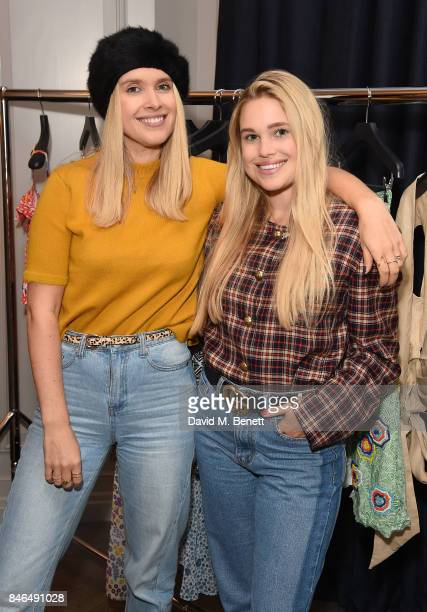 Olivia Minns and Alice Minns attend the #LFWDressingSweet by Amy Sturgis at the Trafalgar Hotel on September 13 2017 in London England