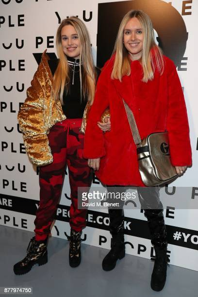 Olivia Minns and Alice Minns attend the You People launch party on November 23 2017 in London England