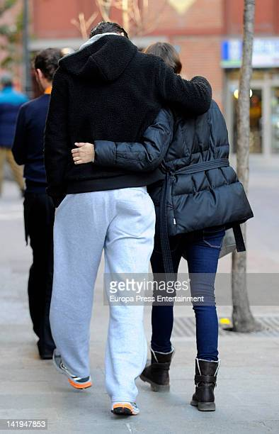 Olivia Molina and Sergio Mur are seen on February 24 2012 in Madrid Spain