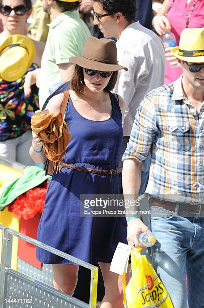 Olivia Molina attends Mutua Madrilena Madrid Open on May 12 2012 in Madrid Spain