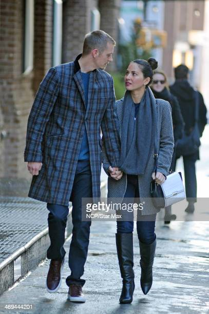 Olivia Munn and Joel Kinnaman are seen on February 14 2014 in New York City