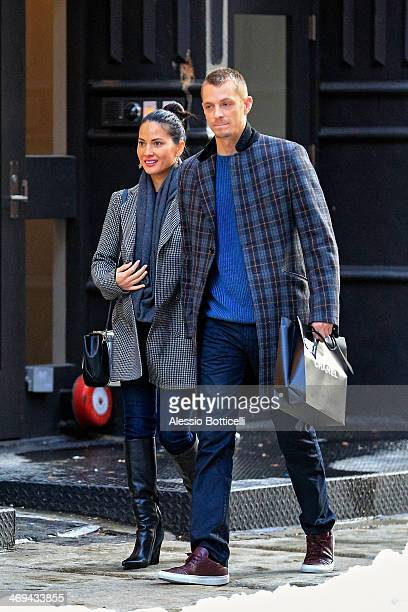 Olivia Munn and Joel Kinnaman are seen shopping in SoHo on February 14 2014 in New York City