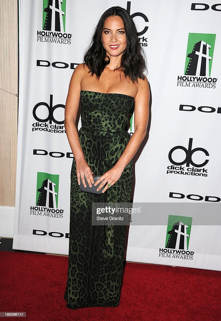 Olivia Munn arrives at the 17th Annual Hollywood Film Awards at The Beverly Hilton Hotel on October 21, 2013 in Beverly Hills, California.