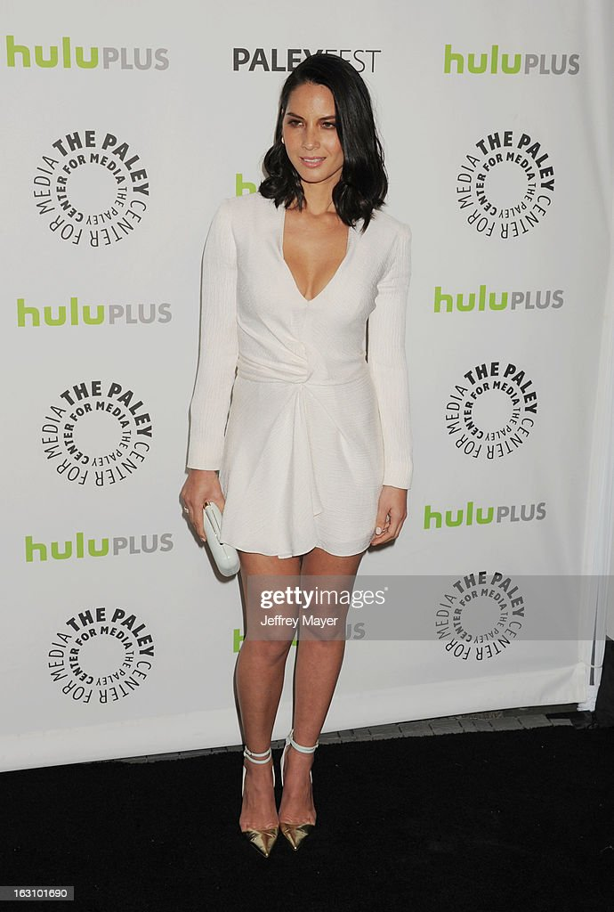 <a gi-track='captionPersonalityLinkClicked' href=/galleries/search?phrase=Olivia+Munn&family=editorial&specificpeople=598969 ng-click='$event.stopPropagation()'>Olivia Munn</a> arrives at the 30th Annual PaleyFest: The William S. Paley Television Festival featuring 'The Newsroom' at Saban Theatre on March 3, 2013 in Beverly Hills, California.