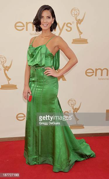 Olivia Munn arrives at the Academy of Television Arts Sciences 63rd Primetime Emmy Awards at Nokia Theatre LA Live on September 18 2011 in Los...