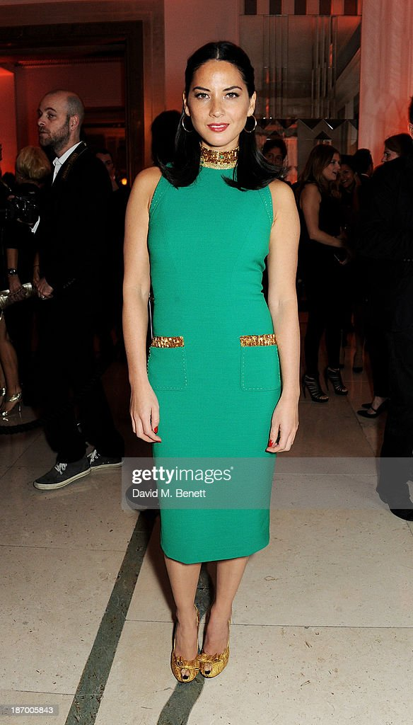 Olivia Munn arrives at the Harper's Bazaar Women of the Year awards at Claridge's Hotel on November 5, 2013 in London, England.