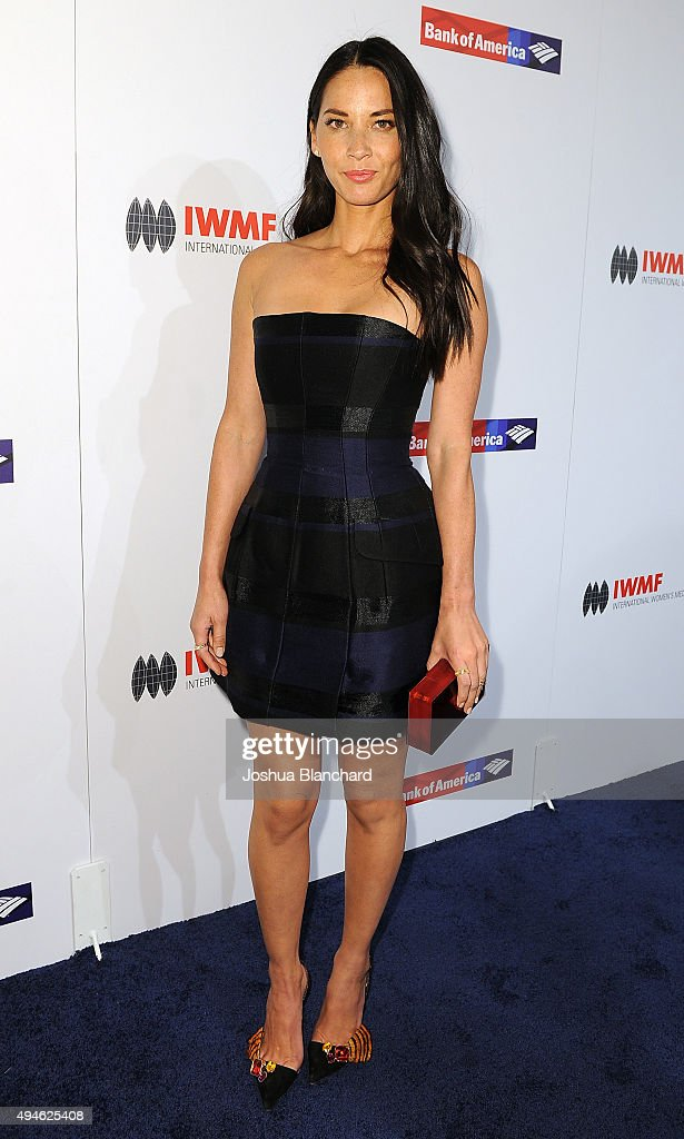 Olivia Munn arrives at the International Women's Media Foundation Courage Awards at the Beverly Wilshire Four Seasons Hotel on October 27, 2015 in Beverly Hills, California.
