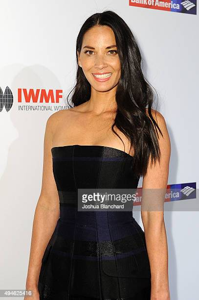 Olivia Munn arrives at the International Women's Media Foundation Courage Awards at the Beverly Wilshire Four Seasons Hotel on October 27 2015 in...