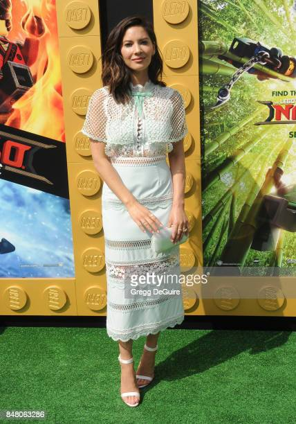 Olivia Munn arrives at the premiere of Warner Bros Pictures' 'The LEGO Ninjago Movie' at Regency Village Theatre on September 16 2017 in Westwood...