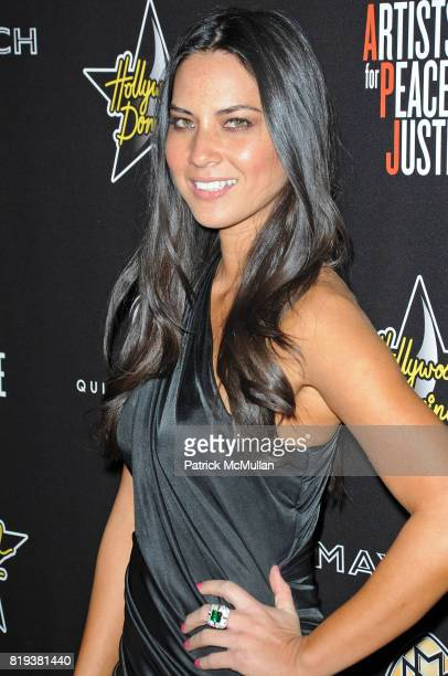 Olivia Munn attends 3rd Annual PreOscar Hollywood DOMINO Gala Benefiting Artists for Peace and Justice at BAR 210 on March 4 2010 in Beverly Hills...